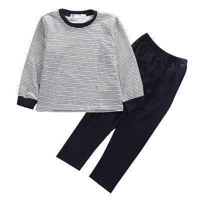 6 Autumn Baby Boys Clothes 2PCS Newborn Kids Baby Boy Long Sleeve Striped T-shirt Tops+Pants Leggings Outfits Set