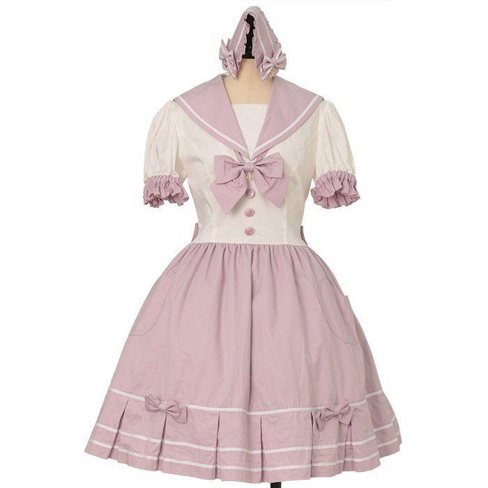 Heart pocket sailor dress + head dress #metamorphose  https://www.wunderwelt.jp/en/products/w-27826  Worldwide shipping available   How to order → https://www.wunderwelt.jp/en/shopping_guide