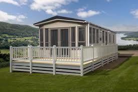 static caravan for rent decking