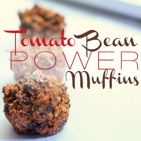 Tomato & Bean muffins - great treat for baby-led weaning & toddlers. Sugar free!! Mmm....