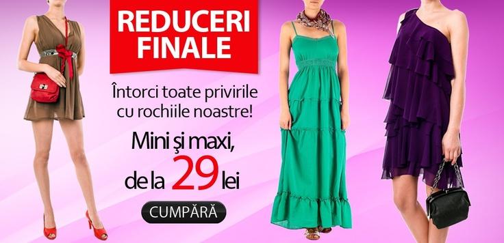 MINI sau MAXI?    Ceva fab pentru fiecare, marca TinaR, aici: http://www.tinar.ro/rochii.html?pret_asc=1    De la 29 lei!