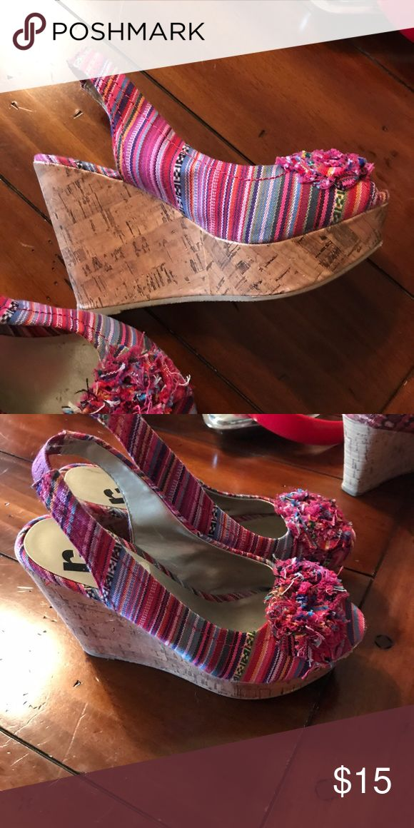 Ladies wedge Ladies wedge sandals only worn a handful of times. Shoes Wedges