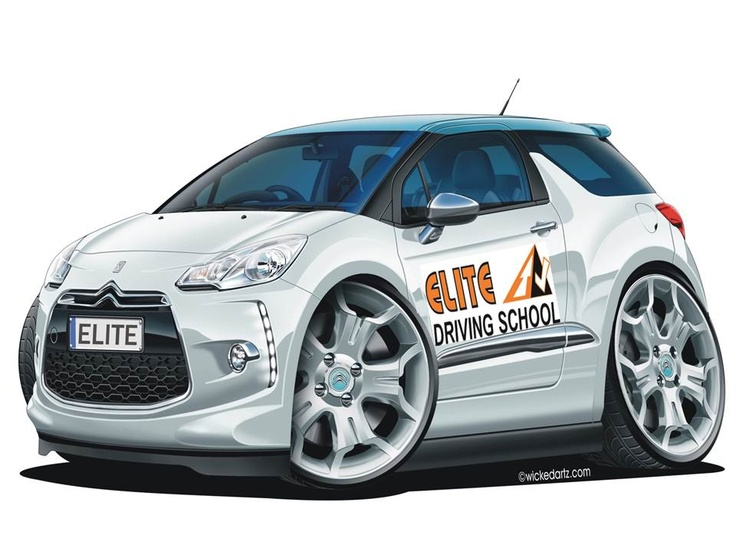 Elite's Citroen DS3 tuition cars beefed up (in the picture only) for all you car fans