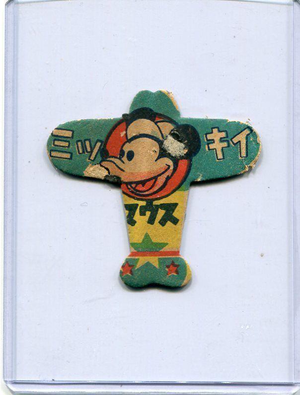 JAPANESE MENKO CARD Disney Mickey Mouse vintage(-1943)