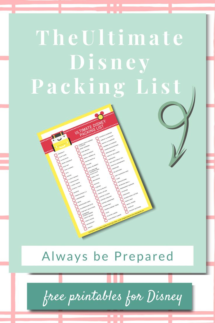 Jun 16, 2020 – Planning a Disney vacation can be overwhelming, grab your FREE! Ultimate Disney Packing List so your tip…