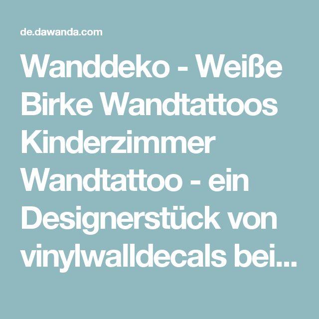 Vintage Wanddeko Wei e Birke Wandtattoos Kinderzimmer Wandtattoo ein Designerst ck von vinylwalldecals bei DaWanda