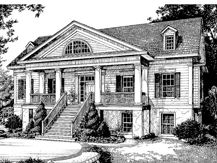 Greek Revival House Plan With 3651 Square Feet And 4