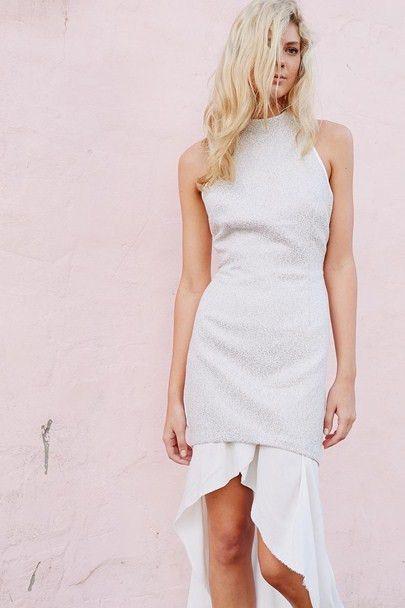 Three Of Something - Tropical Coast Dress White/Silver