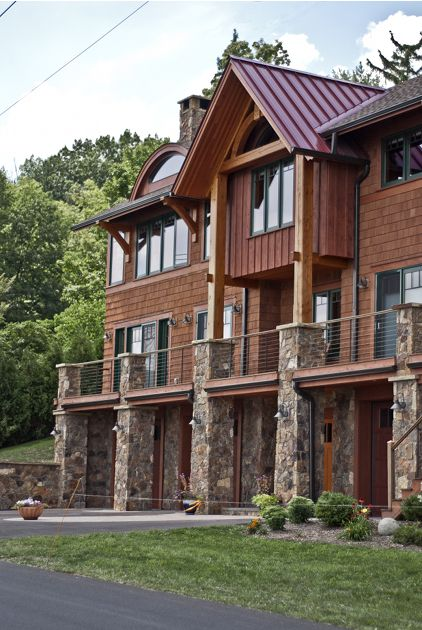 66 best timber frame home exteriors images on pinterest for Timber frame exteriors