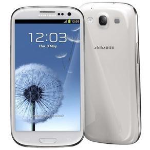 """Celular Desbloqueado Samsung I9300 Galaxy S III Branco c/ Tela 4.8"""", Câm. 8MP   1.9MP Frontal, Android 4.0, 3G, Processador Quad-Core, Wi-Fi e GPS"""