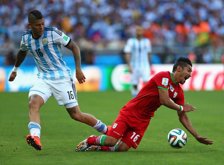 Marcos Rojo of Argentina makes my team. Very impressive work rate and tenacious attitude, if somewhat a little rash at times.