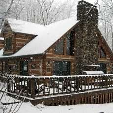 I know Brian doesn't like the snow ..... but, still would LOVE a cabin in the mountains.