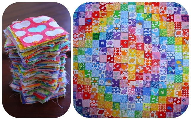 Fabulous blanket made out of retro fabrics
