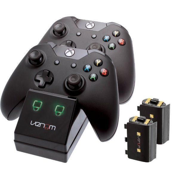 Was £25.00 > Now £14.86.  Save 41% off Venom Xbox One Twin Docking Station with 2 x Rechargeable Battery Packs: Black (Xbox One) #3StarDeal, #Accessories, #AllInOneKits, #Under25