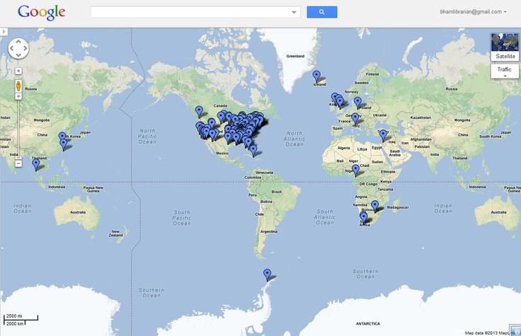 Google map of participating locations. https://maps.google.com/maps/ms?msid=206373240589248670396.0004da17dd36b8c23f89d=0=-0.703107,0=157.533935,316.054688
