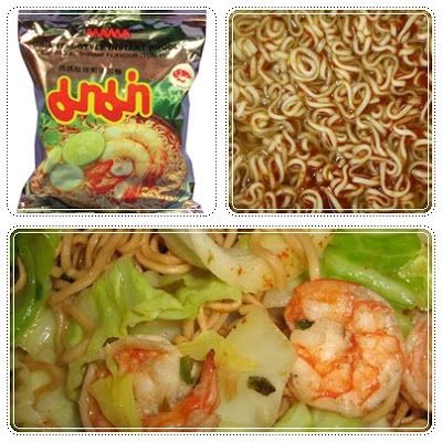 Recipe Stir Fried Spicy Mama Noodles with Shrimps(Mama pad kee mao Goongs), Starter by Tan Kitchen - Thai Kitchen