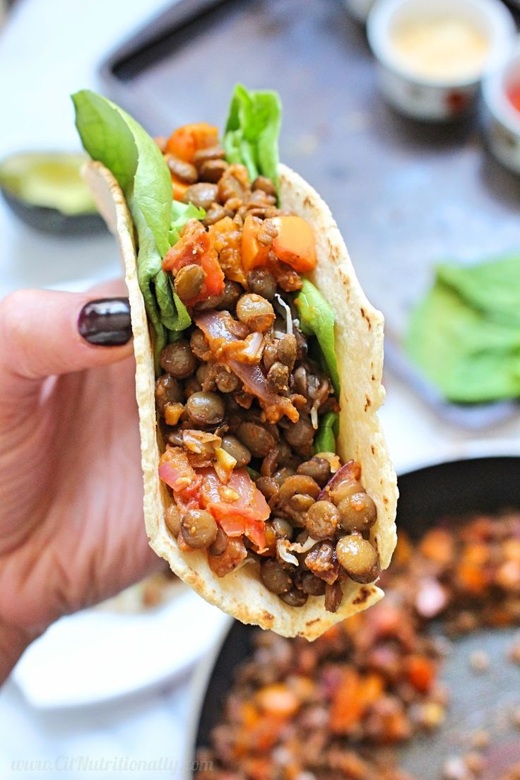 I don't think there's anything better than smoky, spicy, and SIMPLE 6-Ingredient Easy Lentil Tacos on Taco Tuesday! Vegan, Gluten free option, Dairy free, Nut free | 6-Ingredient Easy Lentil Tacos | C it Nutritionally