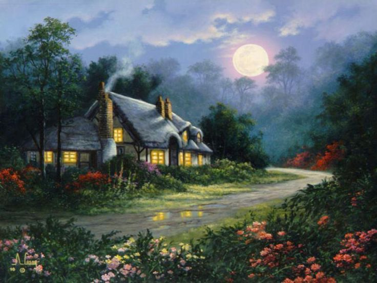 Country Cottage _jpg Wallpaper