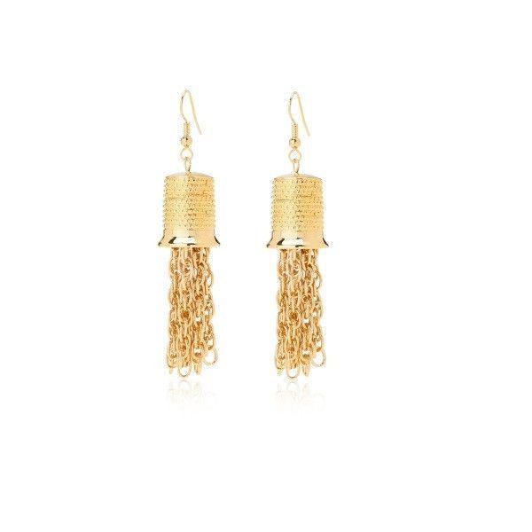 ekzyle.com - Lyssandra Tassel Drop Earrings, $52.00 (http://www.ekzyle.com/lyssandra-tassel-drop-earrings/)