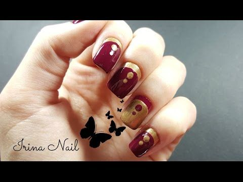 Red and gold french tutorial - YouTube