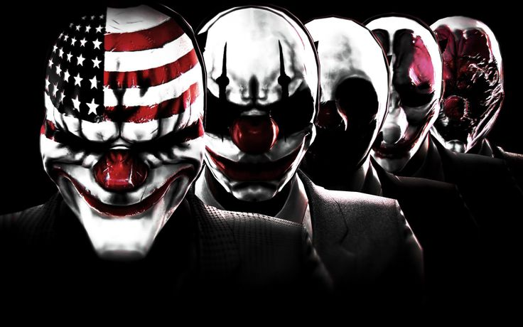 Payday   Payday 2, Wallpapers para pc, Arte do palhaço