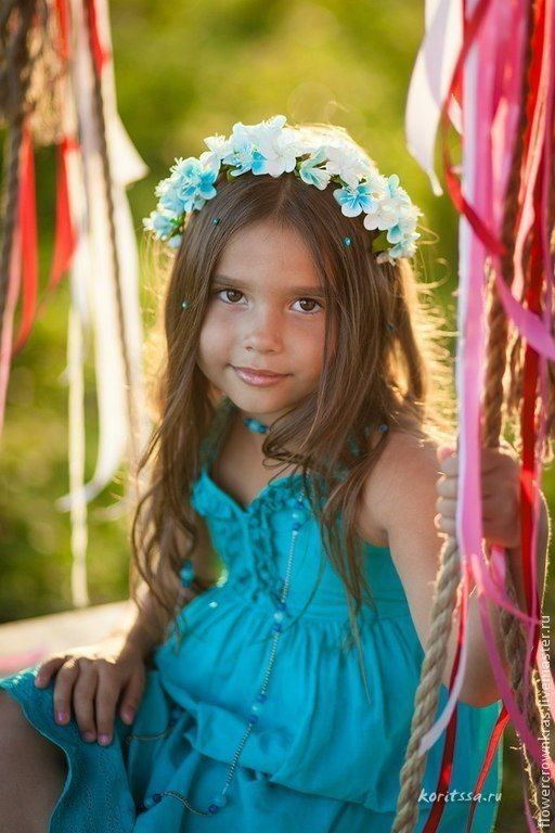Купить Летний венок. Summer Flower Crown - венок, венок из цветов, венец, свадебные аксессуары