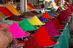 indian market...holi colors