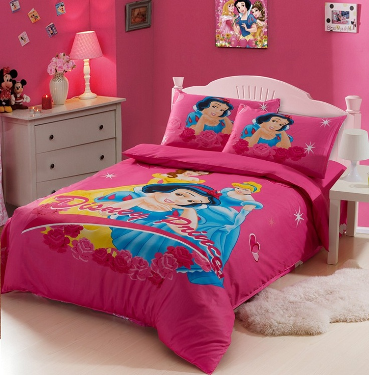 Disney Princess Red Kids Duvet Cover Bedding Sets Kids
