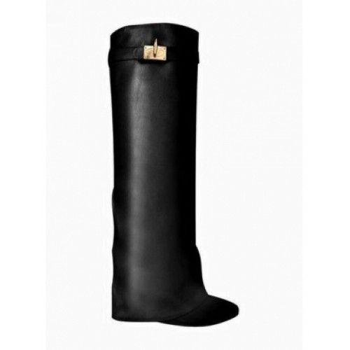 *Exclusive - QAMRA Leather Wedged Heel Boots
