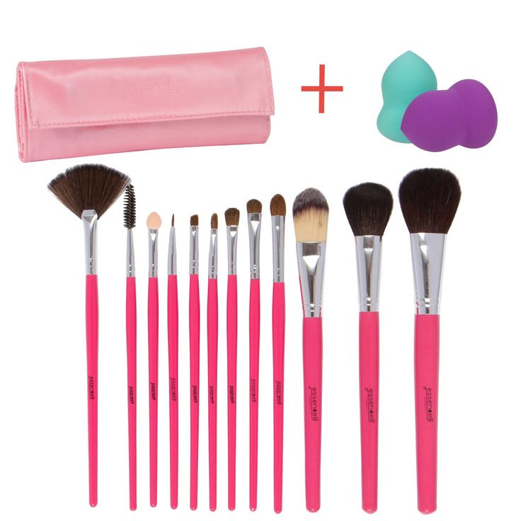12 PC Makeup Brush Set + beauty Sponge+Travel Case. PROFESSIONAL GRADE MAKEUP BRUSH SET with 12 Essential High Quality Natural & Synthetic Hair Makeup Brushes plus one slim, elegant case for easy storage. Soft and Dense + Makeup Blender Sponge Bonus- 100% Satisfaction Guaranteed. DELIVERS A POLISHED & FLAWLESS FINISH OF YOUR MAKEUP APPLICATION to enhance your appearance and boost your confidence. Be the center of attention! Use the eye and face brushes for contouring, foundation…