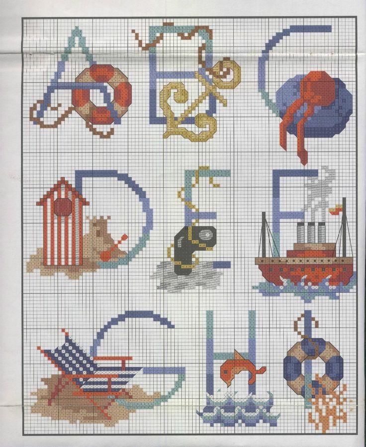 beach alphabet 1-of-3