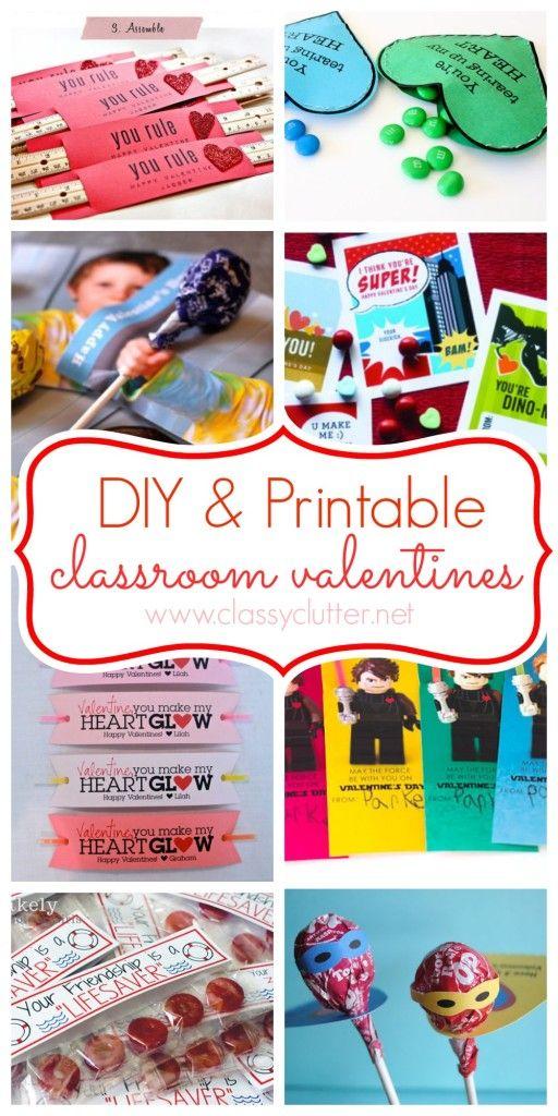 DIY and Printable Valentines