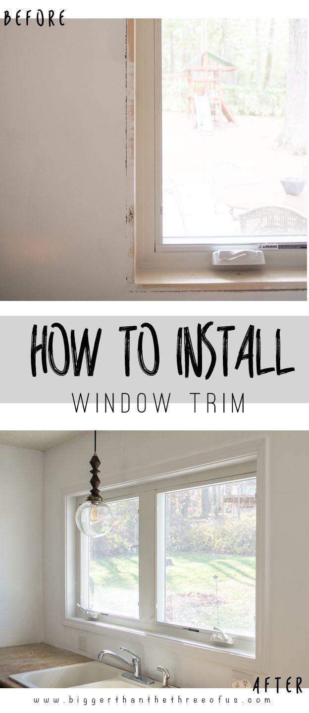 Window trim ideas inside - How To Install Interior Window Trim