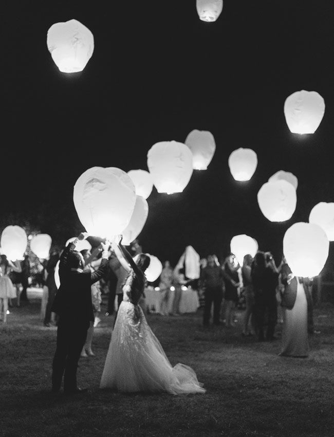 Wishing lanterns to end a spectacular night!