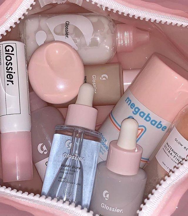 Makeup Skincare Soft Pink Aesthetic Minimalistic Selfcare Face