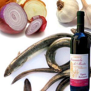 Anguille marinate al vino http://www.brunelli.it/ricette/anguille-marinate-al-vino