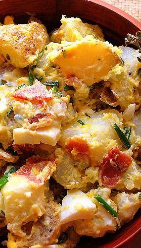 Egg and Potato Salad with Bacon - yummo!