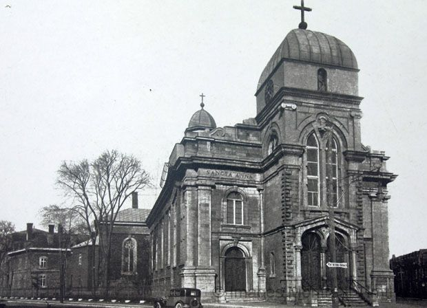 Ste. Anne Church, de la montagne street montreal. Built in 1854. Building has been demolished