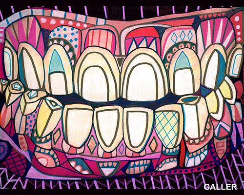 Surreal tooth Art Print Poster of Painting by HeatherGallerArt, $12.00