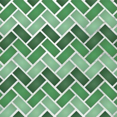 Zig Zag Tiles Moroccan Stencil by Royal Design Studios    Not only in green tones but this would be awesome in earth tones to mimic brick and/or rocks for a kitchen or bath backsplash!
