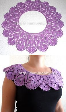 Gorgeous crochet collar