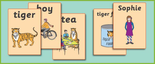 'The Tiger Who Came To Tea' A4 Display Posters