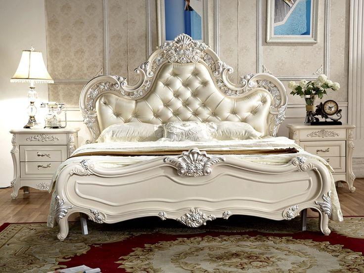 Cheap Stile antico mobili francesi elegante camera da letto set py 6015, Compro Qualità Antique letto direttamente da fornitori della Cina:  Modello: antico stile francese mobili camera da letto elegante set py-6015      Dimensione optional:     A) king