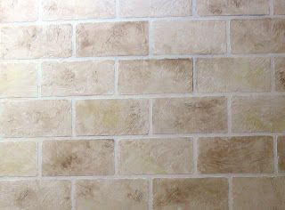 Faux concrete block paint treatment for basement cement - Concrete block painting ideas ...