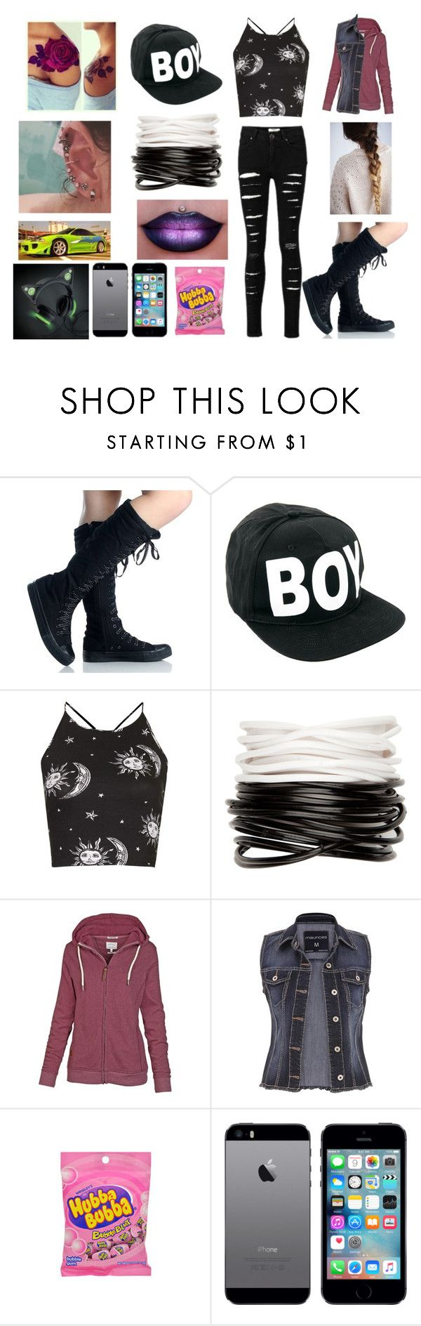 """Watching a murder took place. I'm a witness now *oh boy *"" by bubble-loves-you ❤ liked on Polyvore featuring BLVD Supply, BOY London, Motel, Full Tilt, Fat Face and maurices"