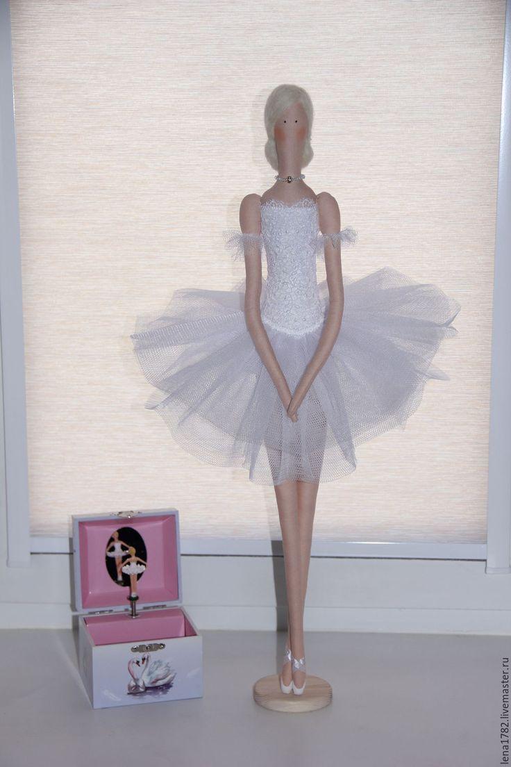Купить Балерина Тильда принцесса- лебедь - белый, балерина, балет, купить куклу из ткани
