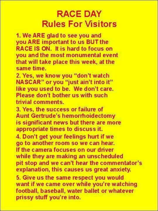 NASCAR RESPECT this is getting posted in my house!