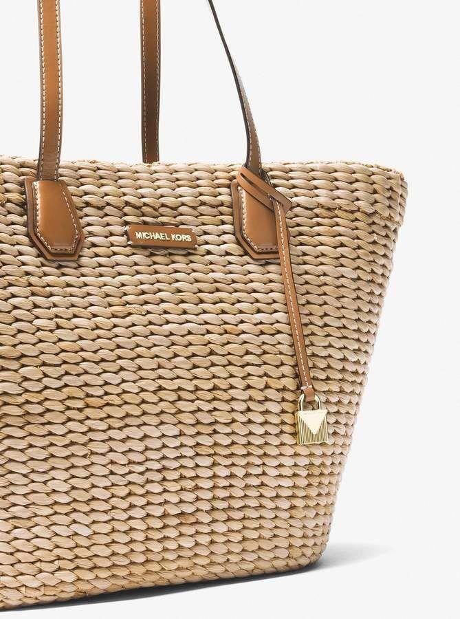 b3b8615e77fdbc MICHAEL Michael Kors Malibu Woven Straw Tote #Handbagsmichaelkors ...