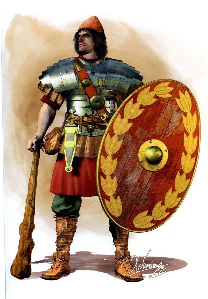 Soldier from Emperor Caracalla's Spartan cohort, c. 211 ...