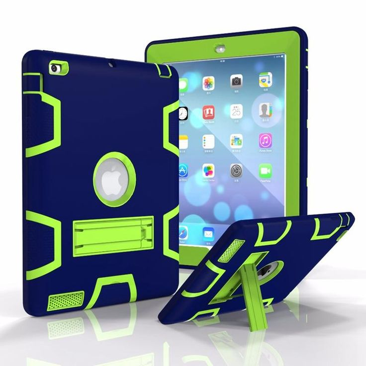 Armor Heavy Duty Shockproof Kickstand Silicone+PC Case For iPad 2 3 4…